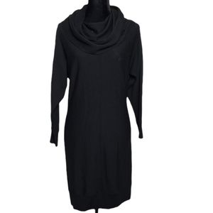 TAHARI 100% Merino Wool Cowl Neck Sweater Dress